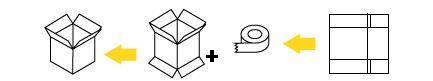 automatyczna zaklejarka kartonów