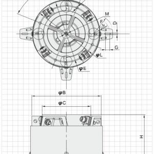 Rysunek techniczny Baza wibracyjna NTB30A